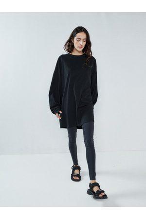Raey Women Leggings - Contrast-waistband Leggings - Womens - Navy