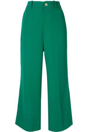 Gucci Women Culottes - Viscose culotte pant with Web