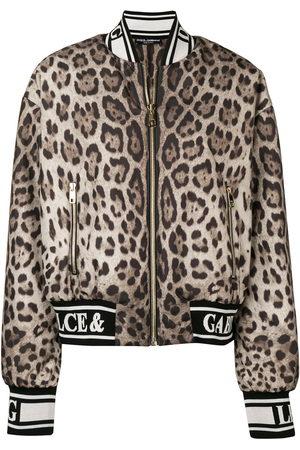 Dolce & Gabbana Women Bomber Jackets - Leopard print bomber jacket