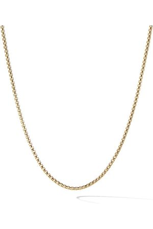 David Yurman 18kt yellow Box chain necklace