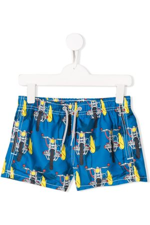 MC2 SAINT BARTH Motorbike print shorts