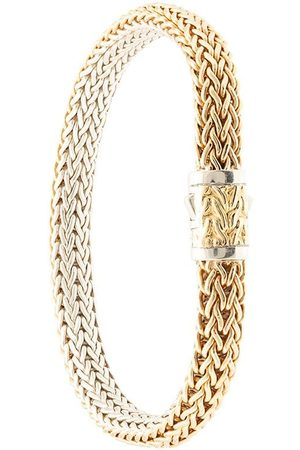 John Hardy 18kt yellow and sterling silver Classic Chain reversible bracelet