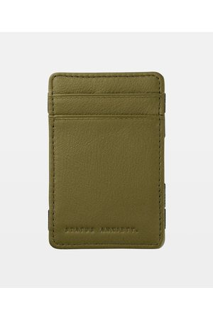 Status Anxiety Flip Leather Wallet Khaki