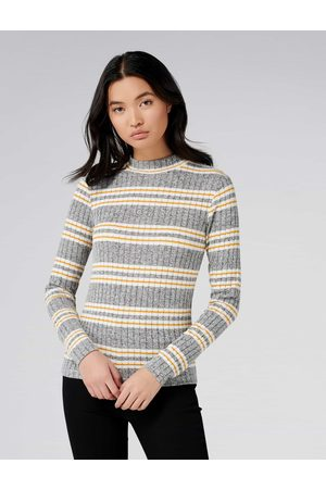 Forever New Penelope Rib Stripe Roll Neck Top