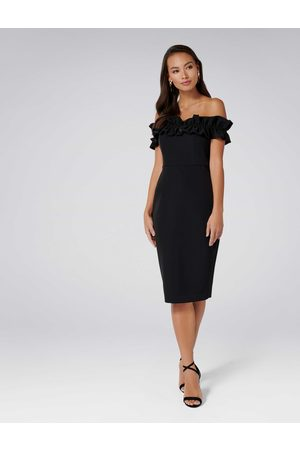 Forever New Felicity Frill Top Pencil Dress