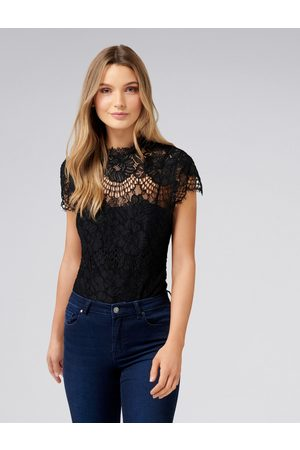 Forever New Women Bodies - Almira Lace Scallop Sleeve Bodysuit