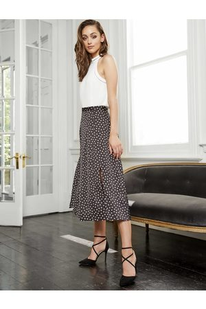 Forever New Nadia Pleated Spot Skirt