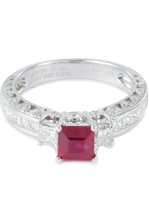LC Collection Diamond ruby 18k white gold ring