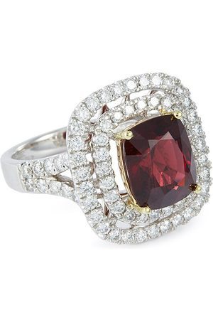 LC Collection Diamond spinel 18k white gold ring
