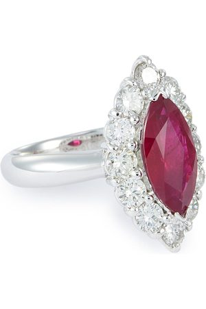 LC Collection Diamond ruby platinum ring