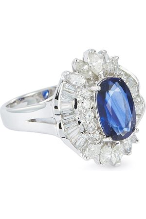LC Collection Diamond sapphire 18k white gold ring