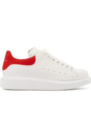 Alexander McQueen Oversized Raised-sole Leather Trainers - Womens