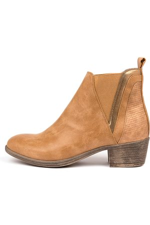 I LOVE BILLY Women Ankle Boots - Adorlee Tan Multi Boots Womens Shoes Ankle Boots