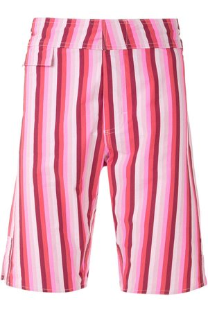 AMIR SLAMA Striped swim trunks