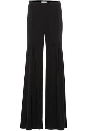 Chloé Wide-leg crêpe pants