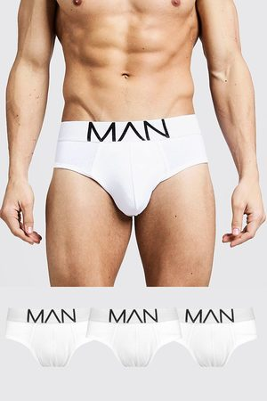 Boohoo Mens 3 Pack MAN Logo Briefs