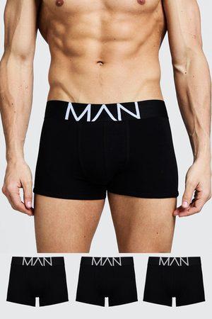 Boohoo Mens 3 Pack MAN Trunks