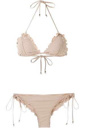 AMIR SLAMA Scalloped trim bikini set