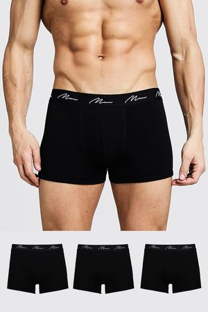 Boohoo Mens 3 Pack MAN Signature Trunks
