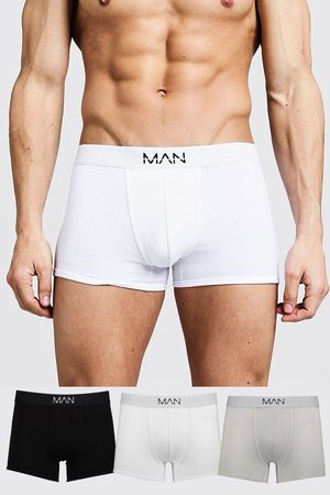 Boohoo Mens Multi 3 Pack Mixed Colour MAN Trunks