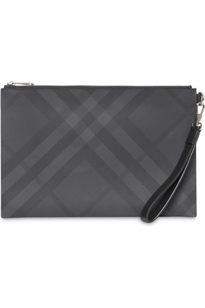 Burberry London Check and Leather Zip Pouch