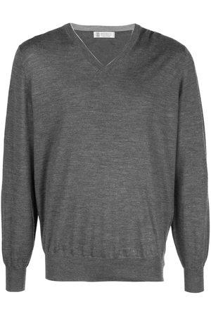 Brunello Cucinelli Men Sweatshirts - V-neck pullover