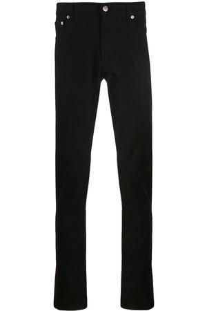 Alexander McQueen Men Slim - Logo embroidered slim jeans