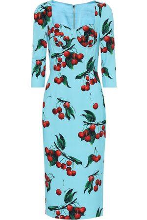 Dolce & Gabbana Exclusive to Mytheresa – cherry printed midi dress