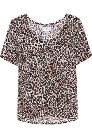 Velvet Caroline leopard-print blouse