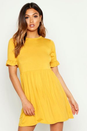Boohoo Smock Dress- Mustard