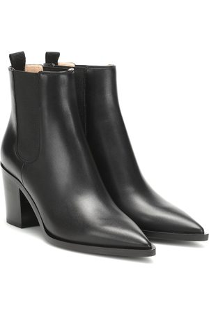 Gianvito Rossi Romney 70 leather ankle boots