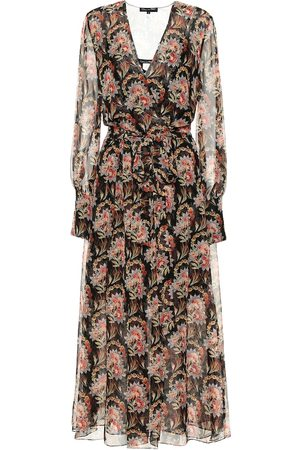 Oscar de la Renta Floral silk-chiffon wrap dress