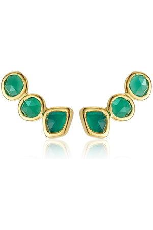Monica Vinader Siren Climber Onyx earrings