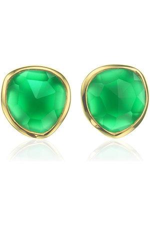 Monica Vinader Siren Stud Green Onyx earrings