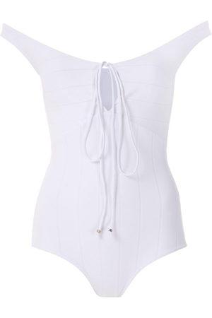 AMIR SLAMA Lace up bodysuit