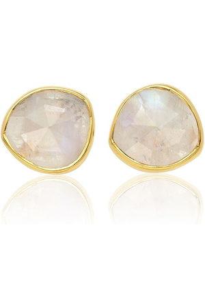 Monica Vinader Siren Stud Moonstone earrings