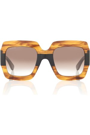 Gucci Square acetate sunglasses