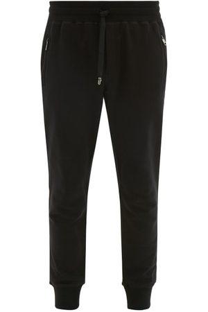 Dolce & Gabbana Men Joggers - Logo-plaque Cotton-jersey Track Pants - Mens