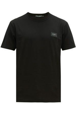 Dolce & Gabbana Logo Patch Cotton Jersey T Shirt - Mens