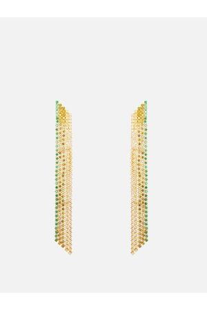 Lynn Ban Waterfall Sapphire & Gold-plated Earrings - Womens
