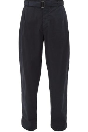 Raey Wide Leg Cotton Chino Trousers - Mens - Navy
