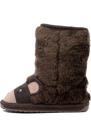 Emu Boys Boots - Bear Jnr Chocolate Boots Boys Shoes Comfort Calf Boots