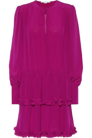 Stella McCartney Evening Dresses - Long-sleeved silk minidress