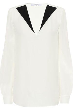 Givenchy Silk-crêpe blouse