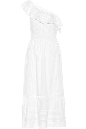 Velvet Coco one-shoulder cotton midi dress