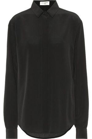 Saint Laurent Shirts - Silk crêpe de chine blouse