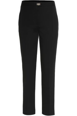 Salvatore Ferragamo High-rise stretch-jersey pants