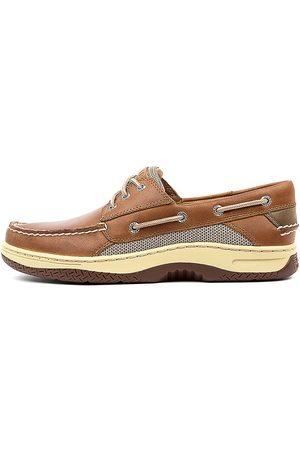 Sperry Billfish 3 Eye Dark Tan Shoes Mens Shoes Casual Flat Shoes