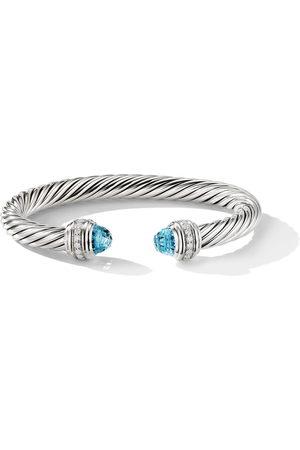 David Yurman Cable topaz and diamond cuff
