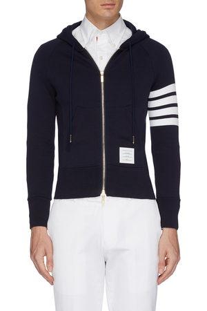 Thom Browne Stripe raglan sleeve zip hoodie